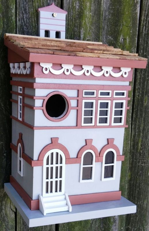 Home Bazaar Brooklyn Townhouse Birdhouse (HOME BAZAAR INC HBK-1014S 812673014907 Wild Bird Supplies Bird Houses) photo