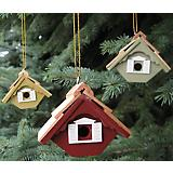 Little Wren Multi-Color Birdhouse Ornament Set
