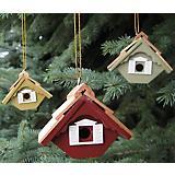 Little Wren Multi-Color Birdhouse Ornament Set