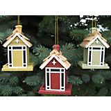 Cottage Feeder Ornament Set Multi Color