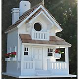 Home Bazaar Backyard Bird Cottage Birdhouse White