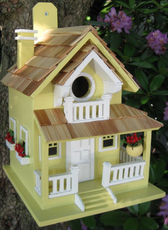 Home Bazaar Backyard Bird Cottage Birdhouse Yellow (HOME BAZAAR INC HB-9045YS 812673011241 Wild Bird Supplies Bird Houses) photo