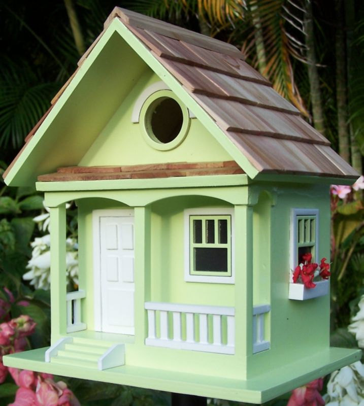 Home Bazaar Key Lime Cottage Birdhouse Key Lime (HOME BAZAAR INC HBB-1001S 812673011159 Wild Bird Supplies Bird Houses) photo