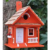 Home Bazaar Tangerine Cottage Birdhouse