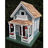 Home Bazaar Newburyport Cottage Birdhouse Blue