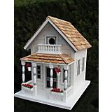 Home Bazaar Newburyport Cottage Birdhouse White