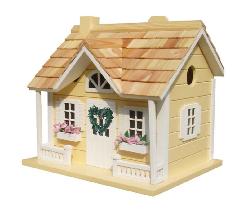 Home Bazaar Home Sweet Home Cottage Yellow (HOME BAZAAR INC HB-9302NLYS 812673014631 Wild Bird Supplies Bird Houses) photo