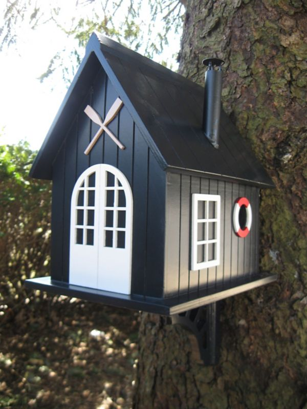 Home Bazaar Boat House Birdhouse (HOME BAZAAR INC KSHB-004S 812673012057 Wild Bird Supplies Bird Houses) photo