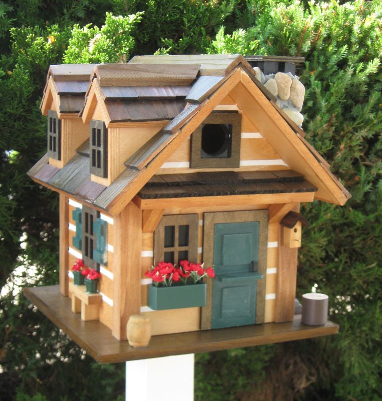 Home Bazaar Rustic Retreat Bird House (HOME BAZAAR INC CC-2020 812673014105 Wild Bird Supplies Bird Houses) photo