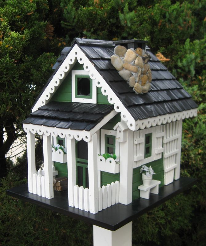 Home Bazaar Cottage Charmer Greenacres Bird House (HOME BAZAAR INC CC-2044 812673014167 Wild Bird Supplies Bird Houses) photo
