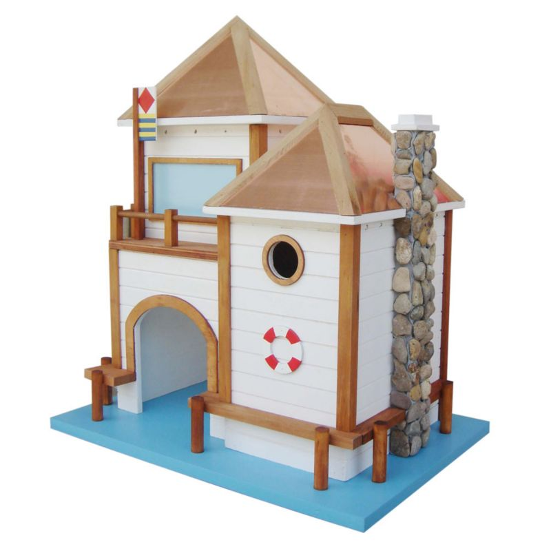 Home Bazaar Lake House Bird House (HOME BAZAAR INC HBK-1011 812673014266 Wild Bird Supplies Bird Houses) photo