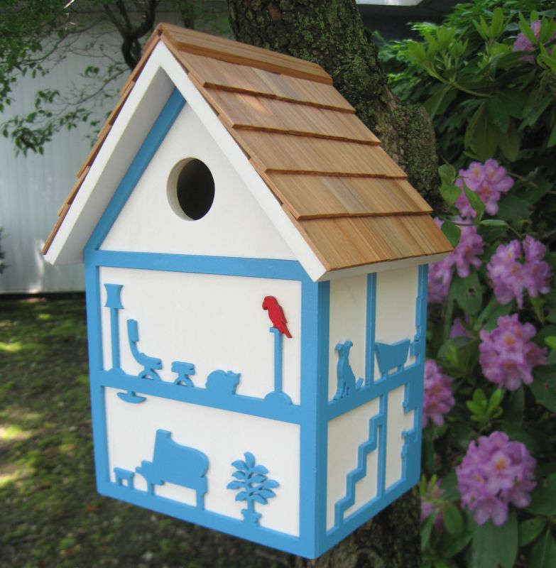Home Bazaar BIRDROOMZ Bird House (HOME BAZAAR INC HBK-1015S 812673014242 Wild Bird Supplies Bird Houses) photo