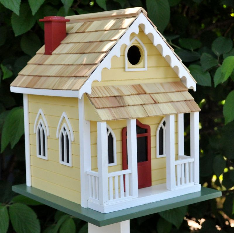 Home Bazaar Chatham Cottage Bird House (HOME BAZAAR INC HB-GE-1003Y 812673013146 Wild Bird Supplies Bird Houses) photo