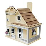 Home Bazaar Flower Pot Cottage Bird House Yellow