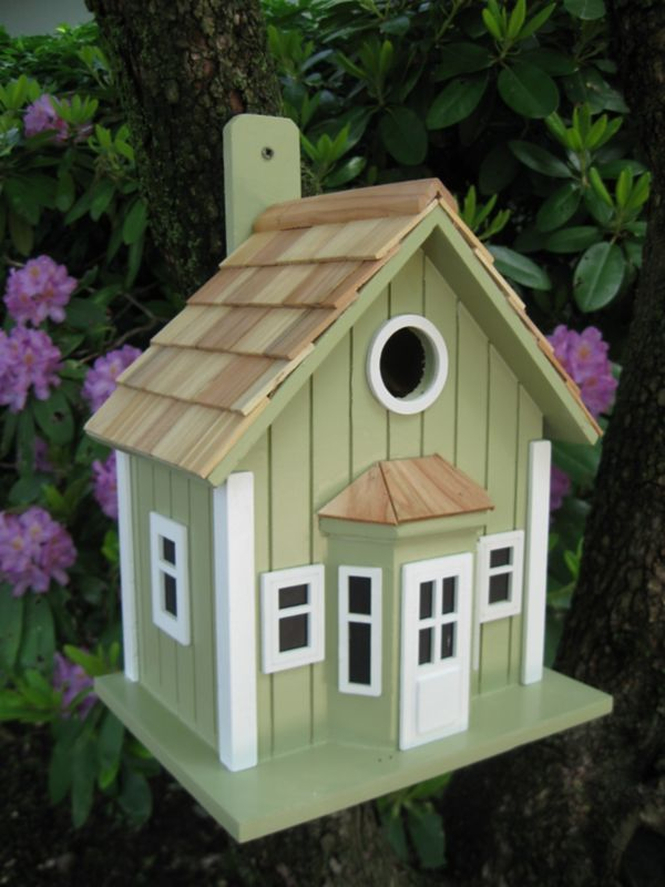 Home Bazaar Parkside Cottage Bird House (HOME BAZAAR INC HB-9303S 812673013962 Wild Bird Supplies Bird Houses) photo