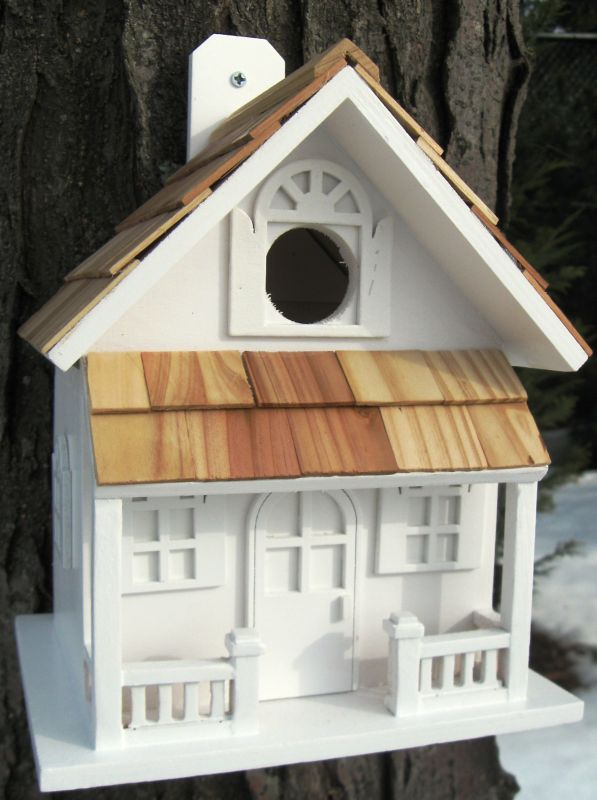 Home Bazaar Country Cottage Bird House (HOME BAZAAR INC HB-7001WS 812673012088 Wild Bird Supplies Bird Houses) photo