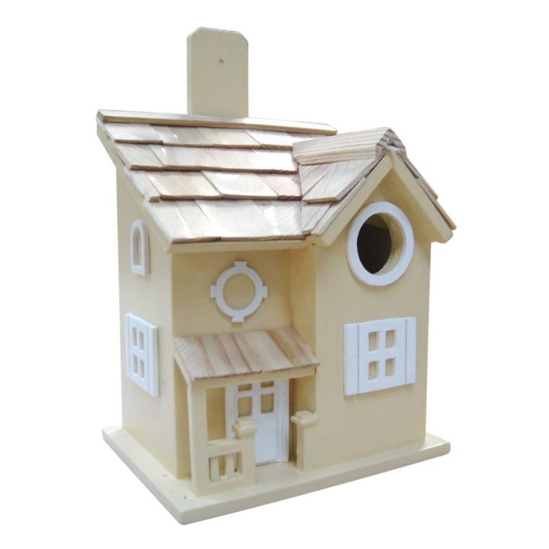 Home Bazaar Nestling Cottage Bird House (HOME BAZAAR INC HB-7041YS 812673011630 Wild Bird Supplies Bird Houses) photo