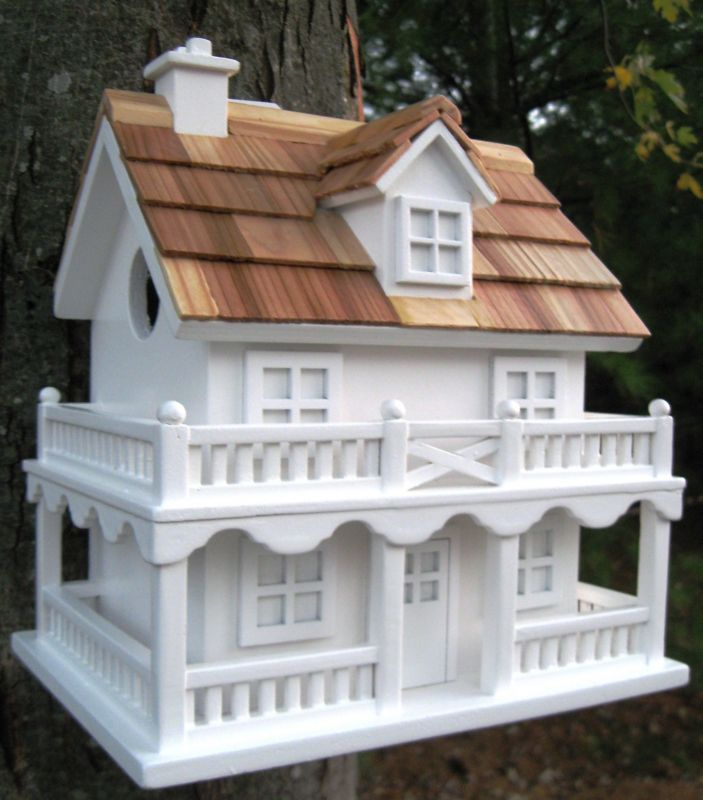 Home Bazaar Colonial Cottage Bird House (HOME BAZAAR INC HB-7102WS 812673012064 Wild Bird Supplies Bird Houses) photo