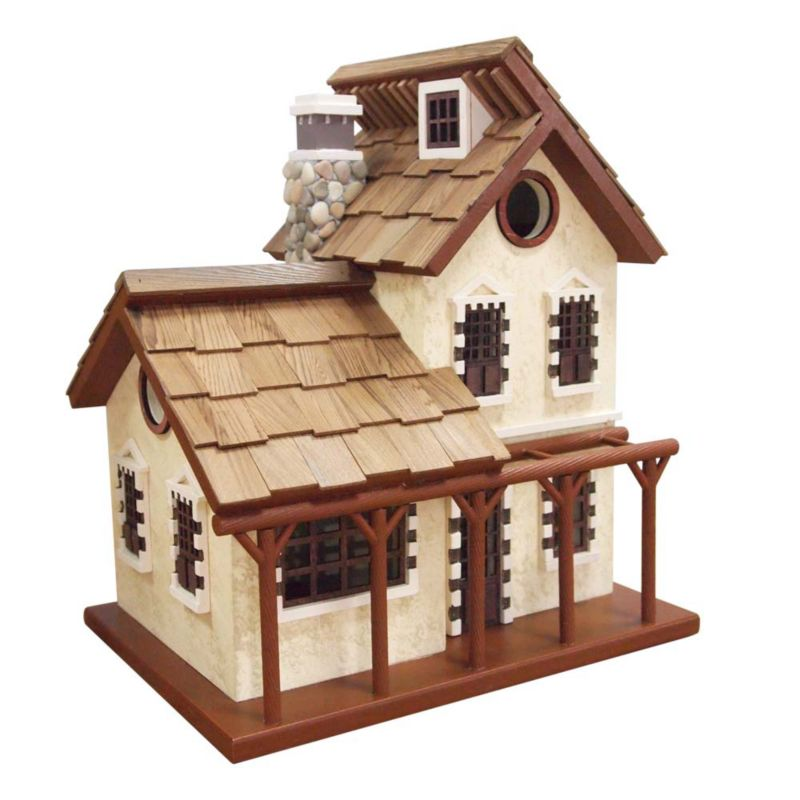 Home Bazaar Garden Cottage Bird House (HOME BAZAAR INC HBK-1001 812673013443 Wild Bird Supplies Bird Houses) photo