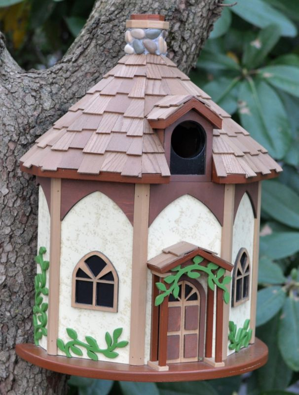 Home Bazaar The Yorkshire Cottage Bird House (HOME BAZAAR INC HBK-1008S 812673013665 Wild Bird Supplies Bird Houses) photo