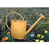 1 Gallon Yellow Metal Watering Can with Long Spout