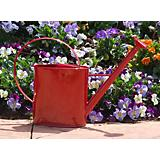 1 Gallon Red Metal Watering Can with Long Spout
