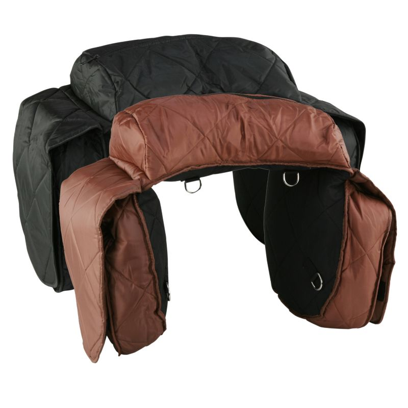 210 Denier Large Combo Quilted Saddlebag Brown Best Price