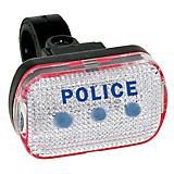 M Wave Police Blue LED Taillight Clear