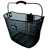M Wave Reinforced Quick Release Wire Basket Black