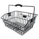 M Wave Classic Rear Wire Basket Black