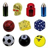 Ventura Assorted Valve Cap Set Assorted Colors