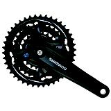 Shimano Altus Chain Wheel Set Black Universal Fit