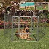 Precision Pet Courtyard Dog Kennel 38in Silver