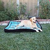 Kensington Black Ice Plaid Bolster Dog Bed