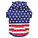 Zack N Zoey American Flag Dog Hoodie