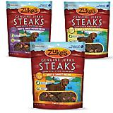 Zukes Jerky Steaks Beef Dog Treat