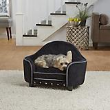 Enchanted Home Pet Black/Silver Headboard Dog Bed