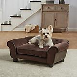 Enchanted Home Pet Cleo Brown Sofa Dog Bed