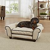 Enchanted Home Pet Cleo Sand/Grey Sofa Dog Bed