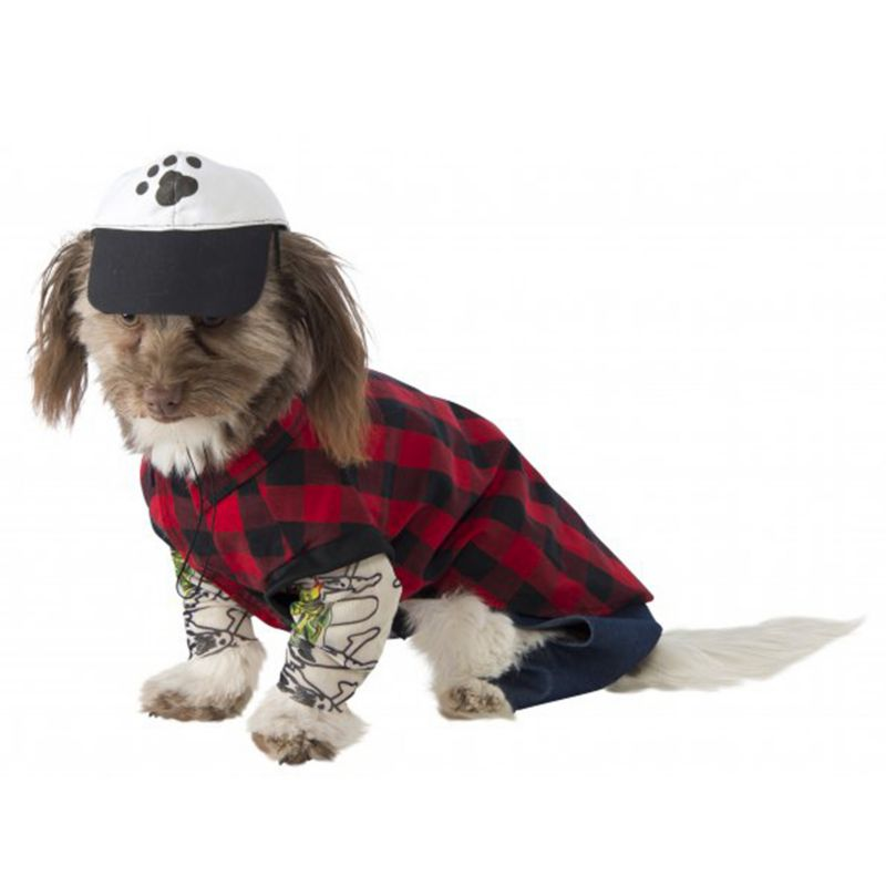 Image of Hipster Dog Costume Large