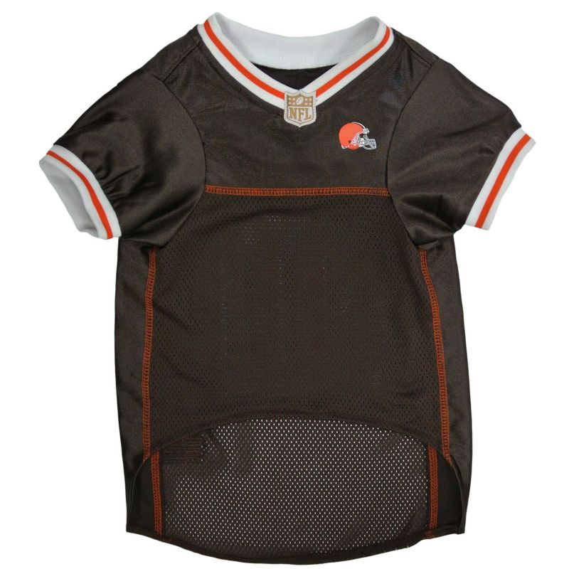 Image of Cleveland Browns White Trim Dog Jersey Small