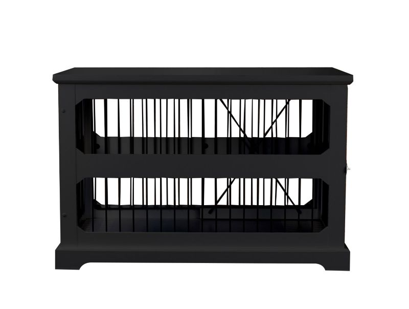 Merry Products Slide Aside Crate/End Table Black