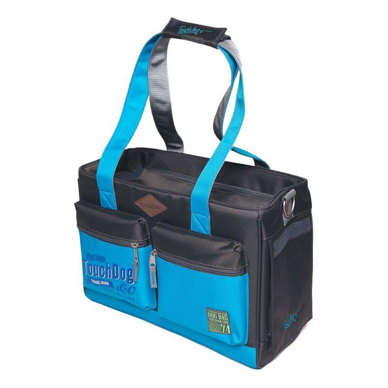 Touchdog Water Resistant Purse Pet Carrier Blue (PET LIFE LLC B82BKBLLG 858342044820 Dog Supplies Carriers Purse Carriers) photo