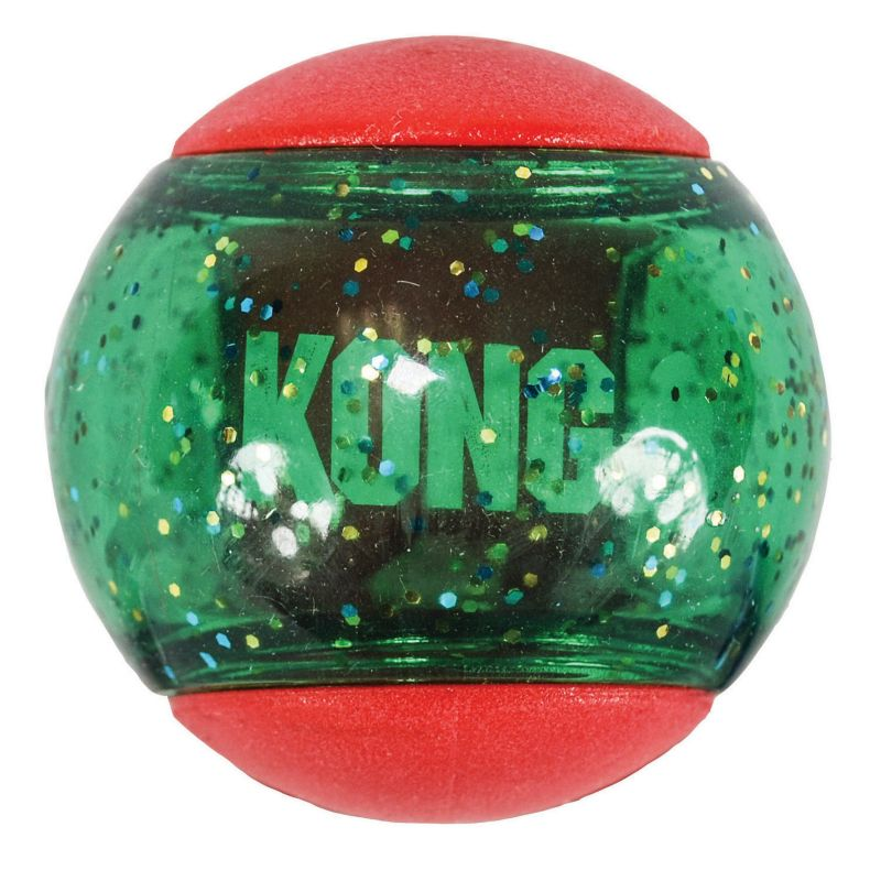 Image of KONG Holiday Squeezz Action Ball Dog Toy Small