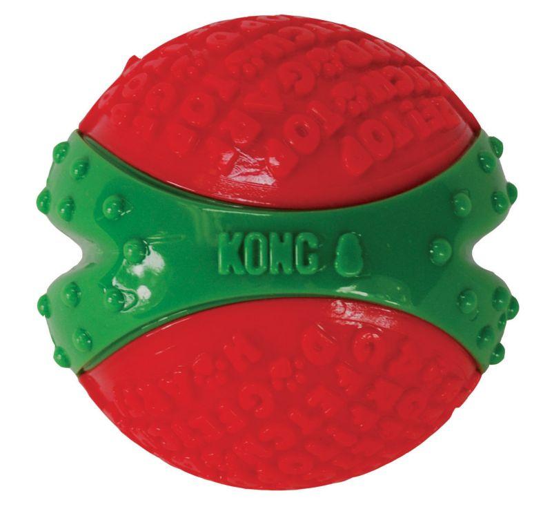 Image of KONG Holiday CoreStrength Ball Dog Toy Medium