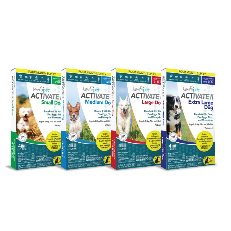 Image of TevraPet Activate II for Dogs 4 Dose 11-20lbs