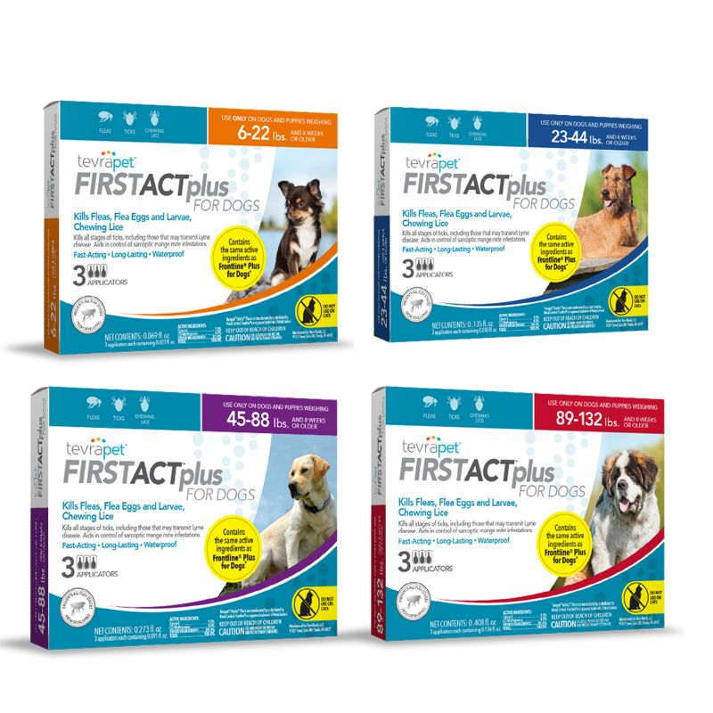 Image of TevraPet FirstAct Plus for Dogs 3 Dose 23-44lbs