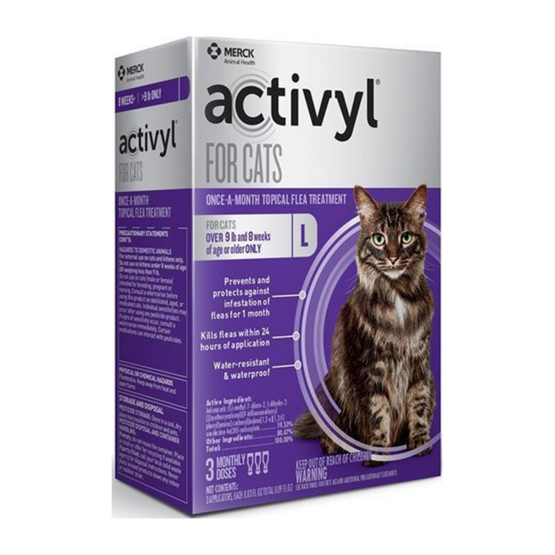 Image of Activyl for Cats Over 9lbs 3 Pack