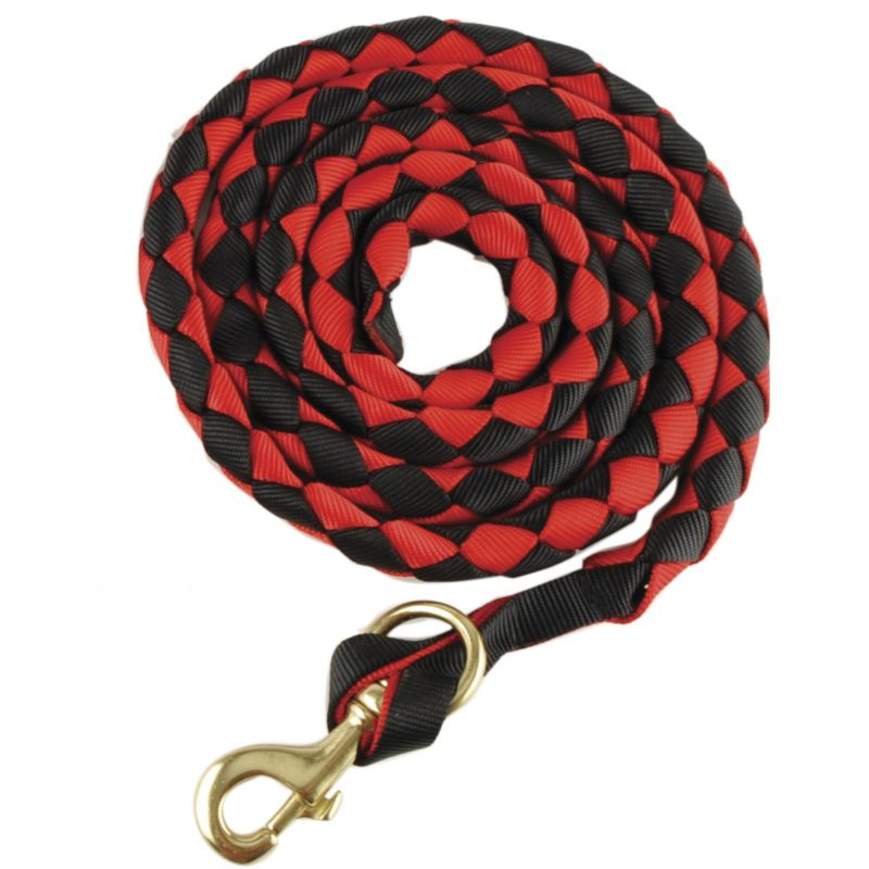 basic flat braided nylon lead rope w/snap black/pu on lovemypets.com