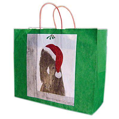 Gift Bag Santa Pony